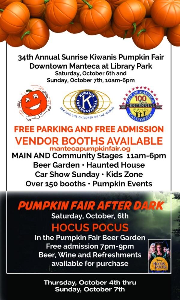 Manteca Kiwanis Pumpkin Fair Events Visit Stockton