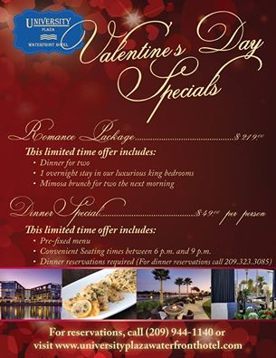 valentine's day specials at university plaza waterfront hotel, Ideas
