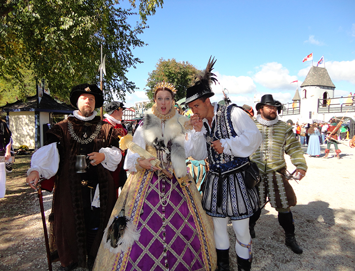 Renaissance characters in Ohio Festival