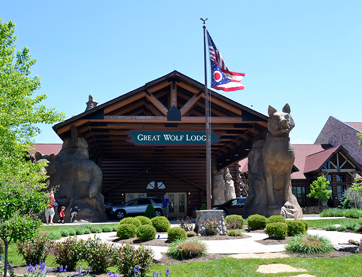 Entrance to Great Wolf Lodge in Mason, Ohio