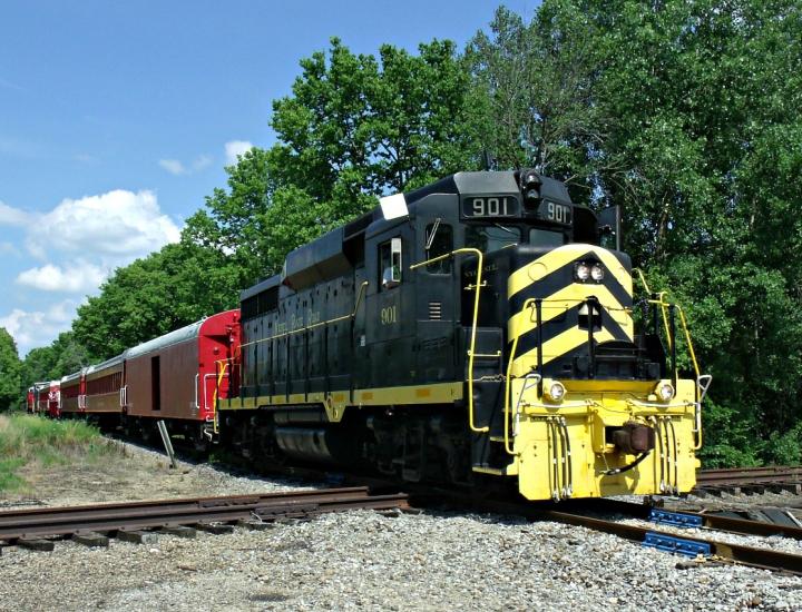 Train ride in Lebanon, Ohio   LM&M Railroad