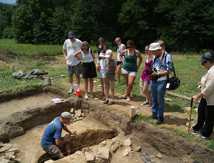 Digging fossils and artifacts | Fort Ancient Earthworks & Nature Preserve