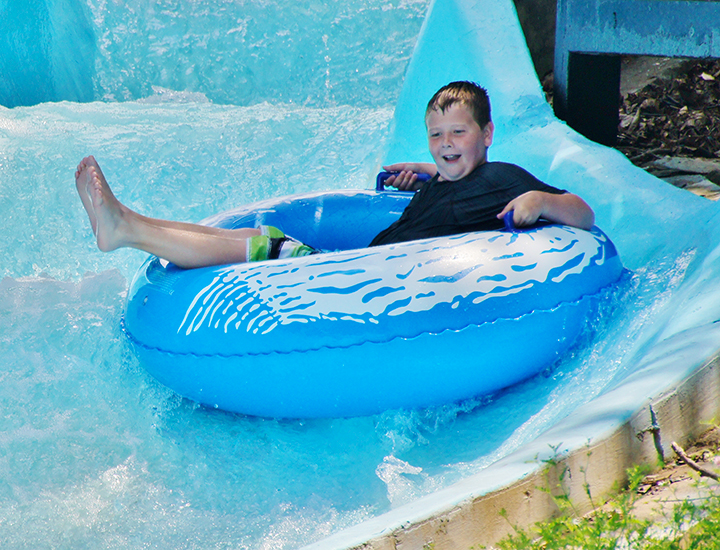 Inner tube ride at The Beach Waterpark