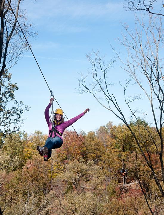 Treetop canopy zip tour in Ohio