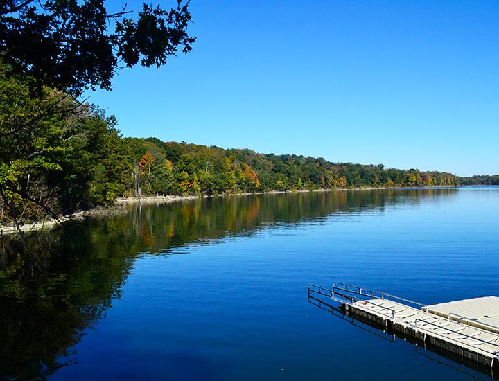 Caesar Creek Lake near Cincinnati and Dayton