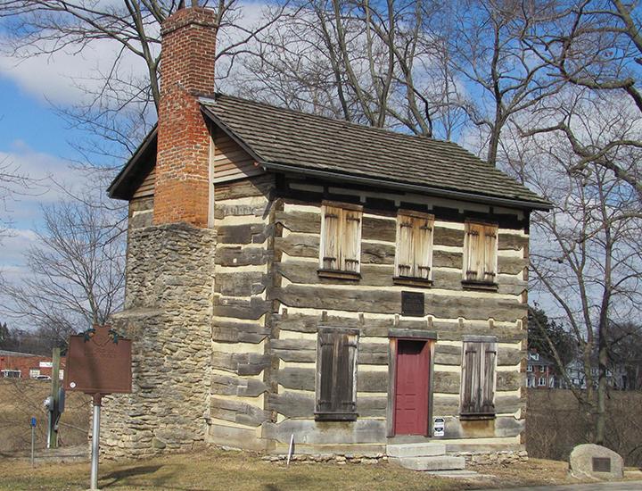 Franklin Historical Society Log Post Office
