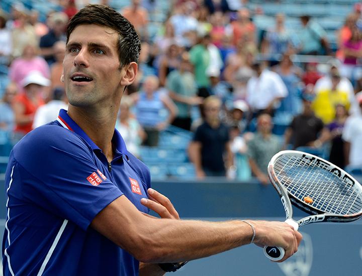 Novak Djokovic at the Western & Southern Open
