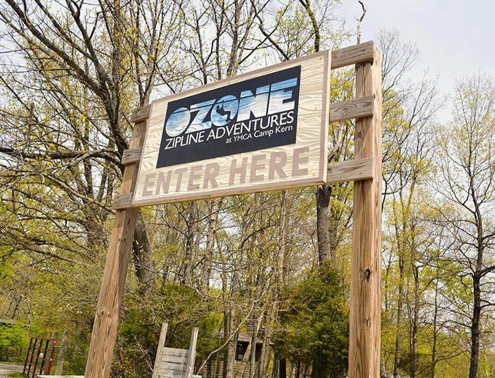Ozone Zipline Adventures at YMCA Camp Kern