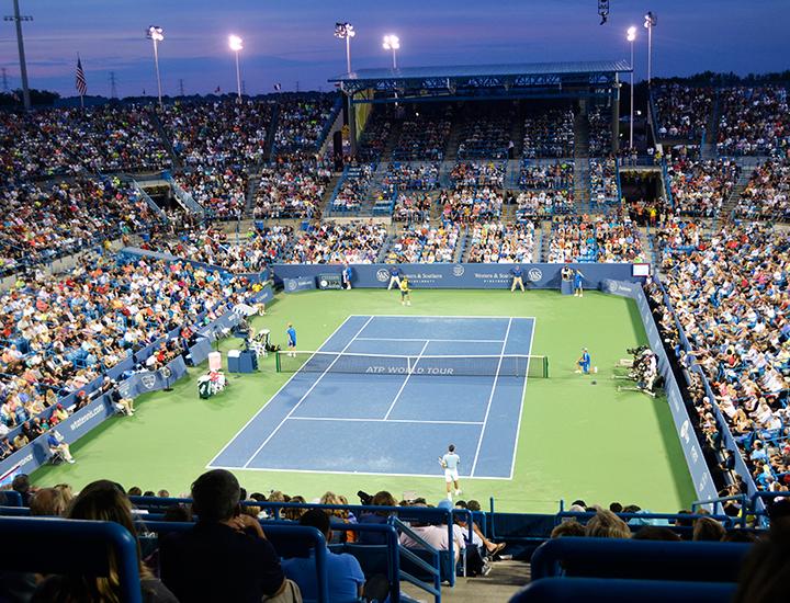 Championship match at night | Western & Southern Open