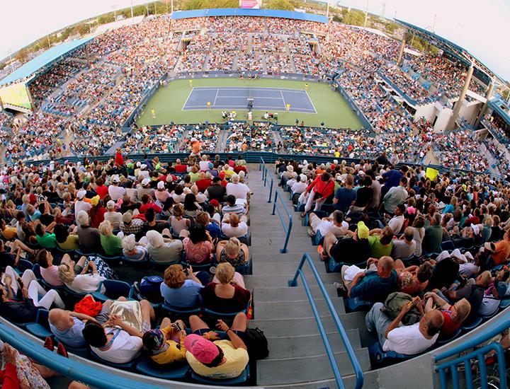 The main court at the Western & Southern Open | Near Cincinnati, Ohio