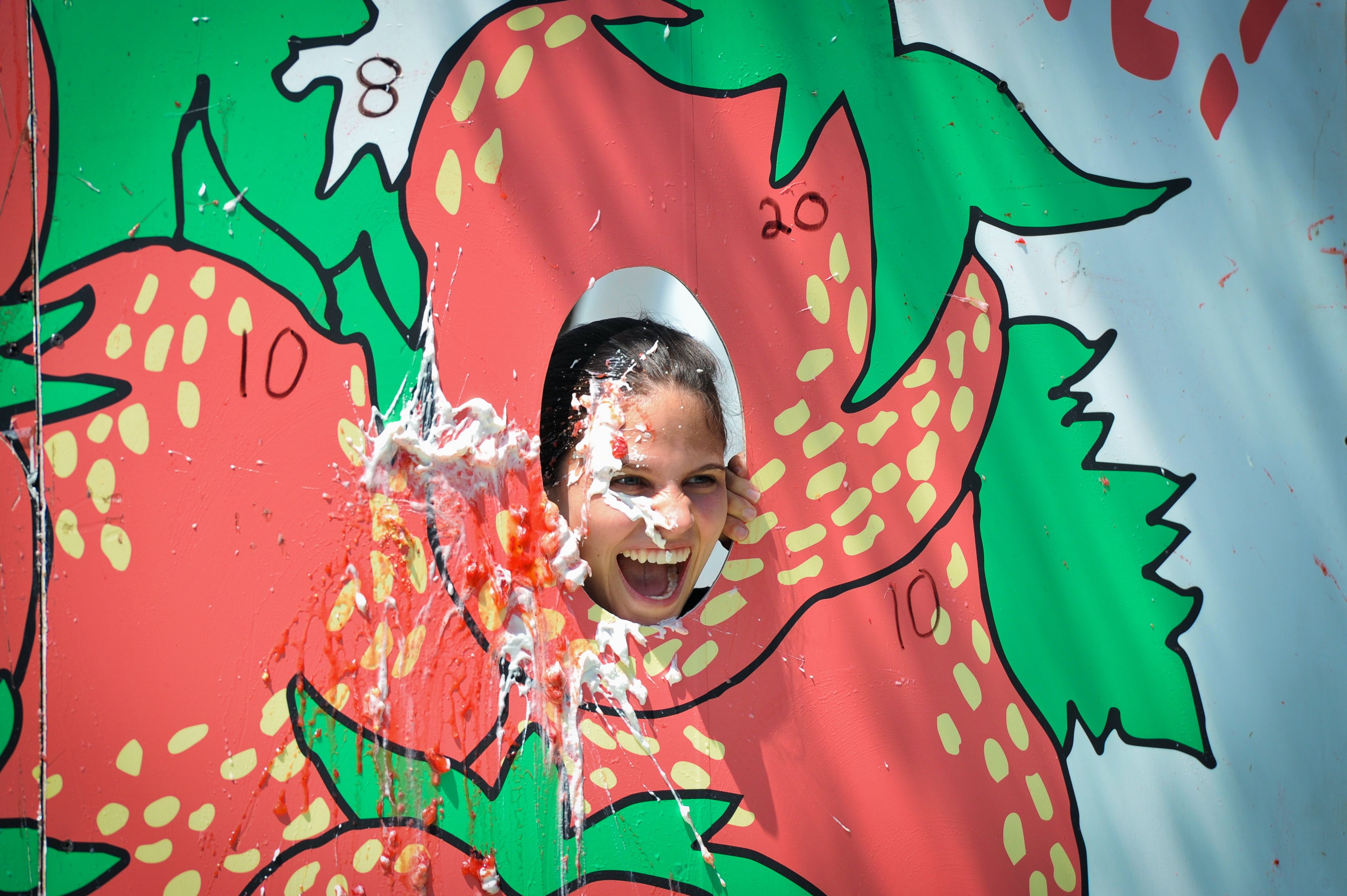Strawberry Pie throwing contest at the California Strawberry Festival