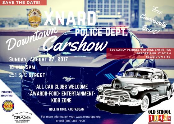 Oxnard Police Department Downtown Car Show Visit Oxnard - Car show downtown