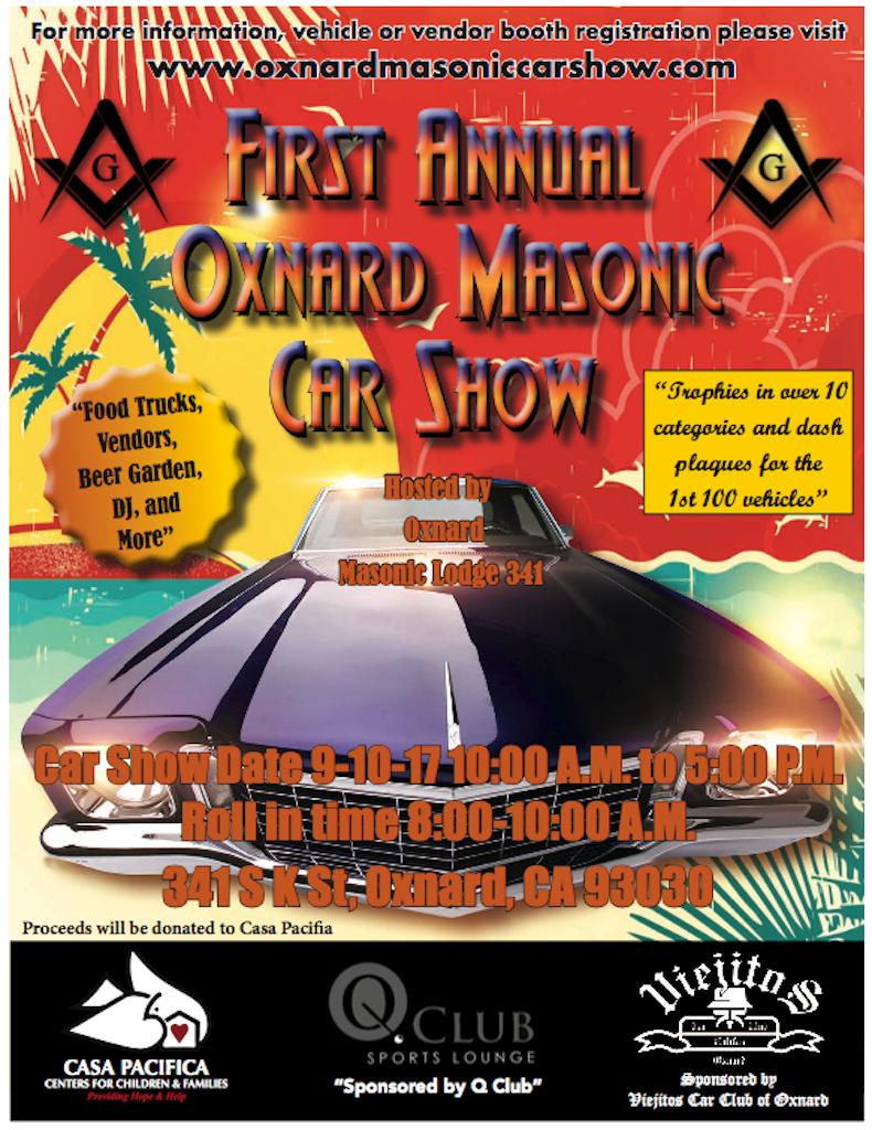 First Annual Oxnard Masonic Car Show Visit Oxnard - Oxnard car show