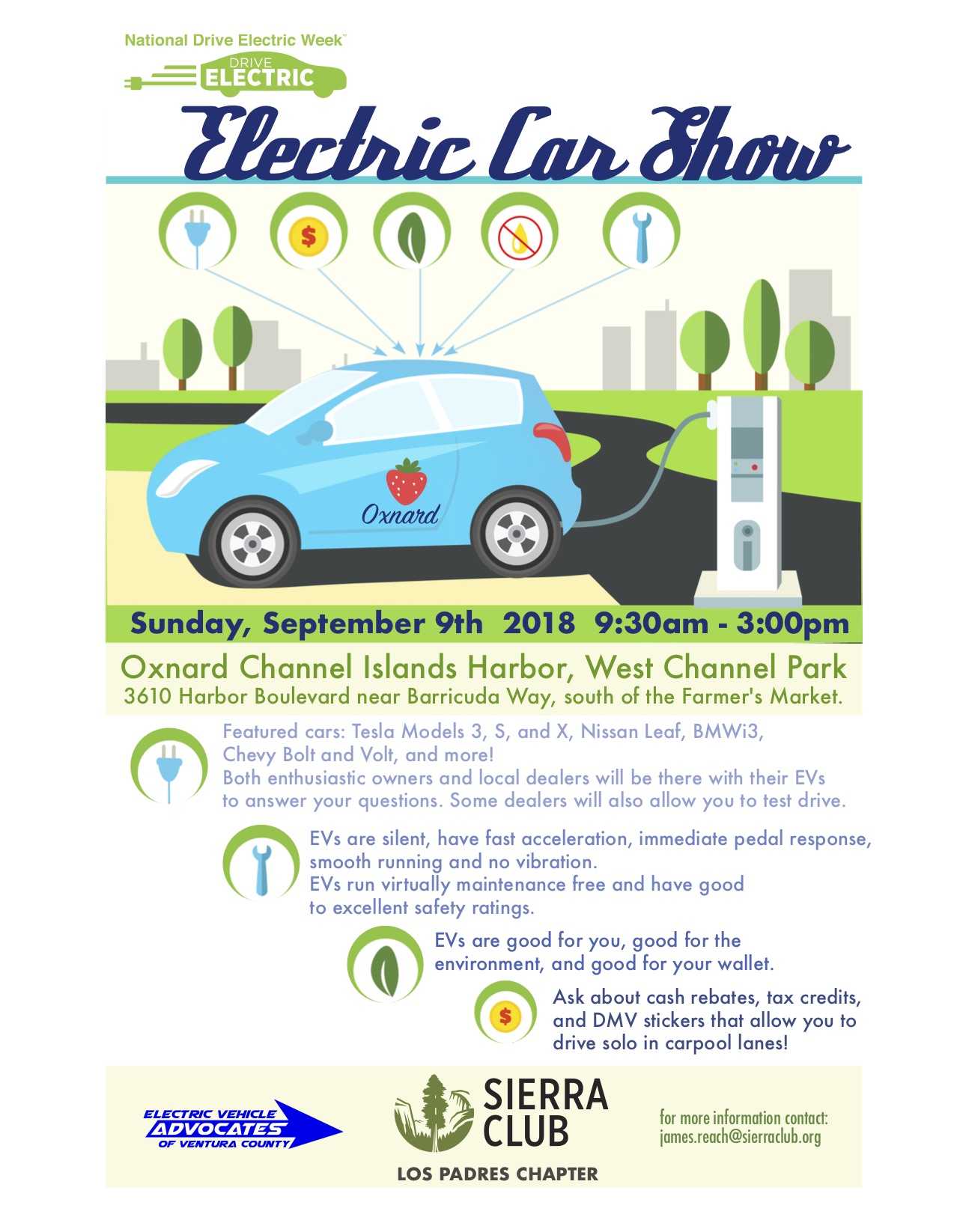 National Drive Electric Week Car Show Visit Oxnard - Oxnard car show
