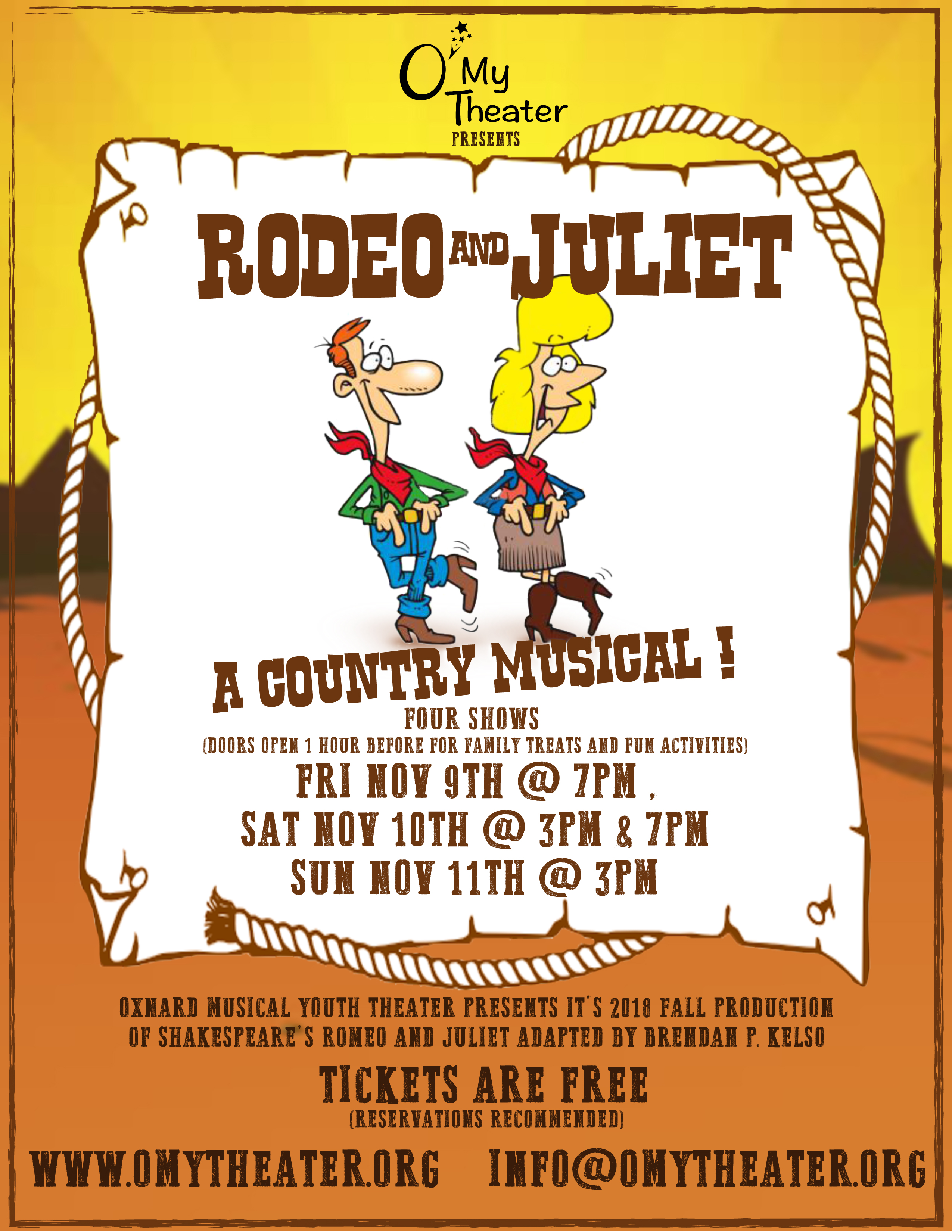 "O'My Theater Presents ""Rodeo and Juliet"""
