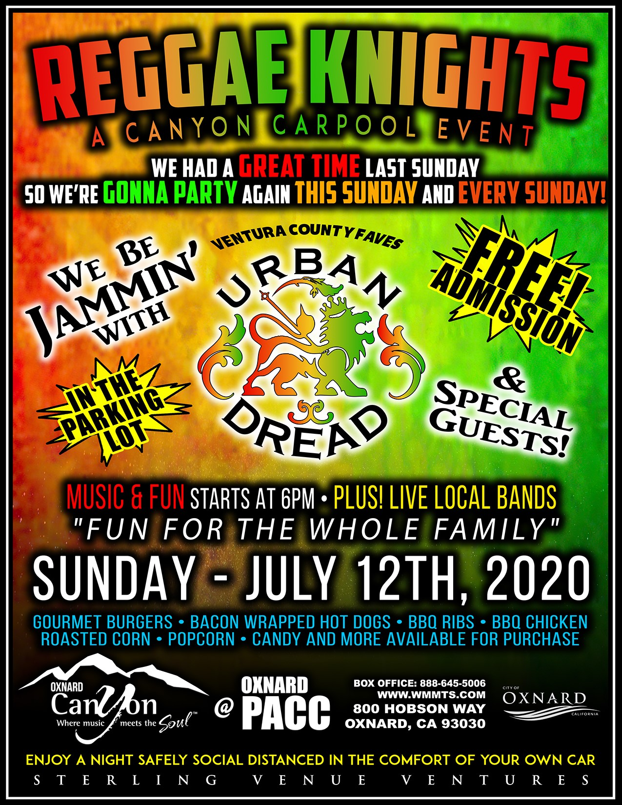 Reggae Knights – A Canyon Carpool Event at the Oxnard PACC