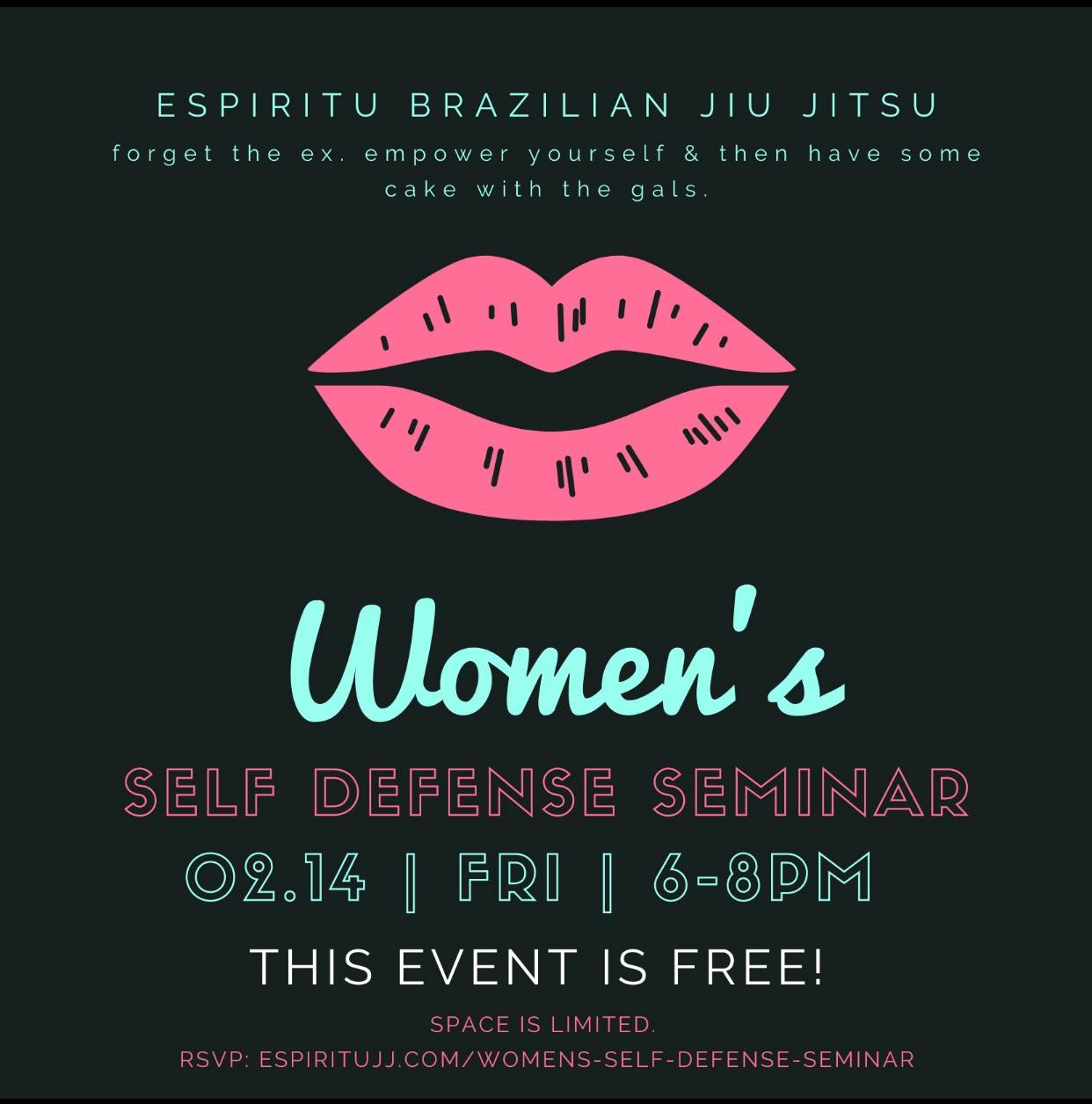 Brazilian Jiu Jitsu Women's Self Defense Seminar