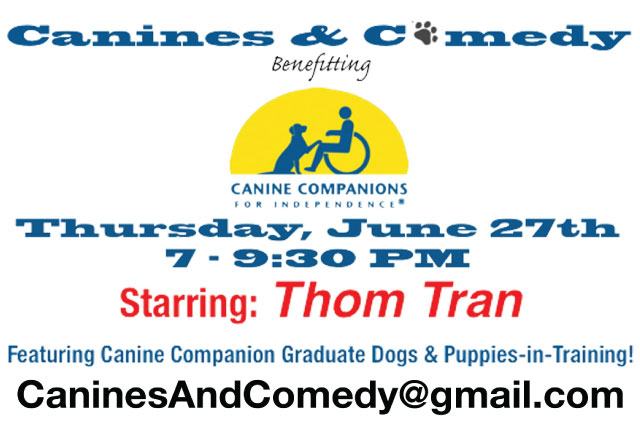 Canines & Comedy Starring: Thom Tran at Levity Live