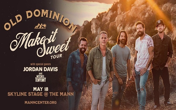 Old Dominion's Make It Sweet Tour with Jordan Davis & Mitchell Tenpenny