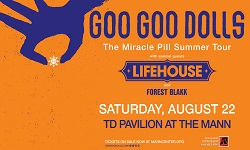 Goo Goo Dolls: The Miracle Pill Summer Tour with special guests Lifehouse & Forest Blakk