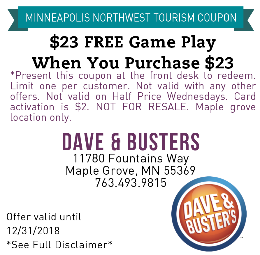 graphic relating to Dave and Busters Printable Coupons titled Dave and busters coupon 2018 / Dish eastern cafe